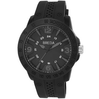Breda Men's 'Aidem' Black Stainless Steel Tachymeter Watch