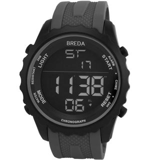 Breda Men's 'Mason' Black Digital Sport Watch with Rubber Strap