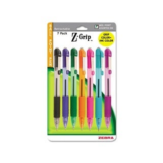 Zebra Z-Grip Assorted Color Medium-point Ballpoint Pens (Pack of 7)
