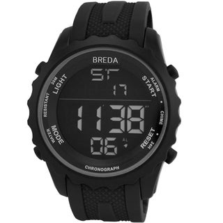 Breda Men's 'Mason' Black Digital Sport Watch