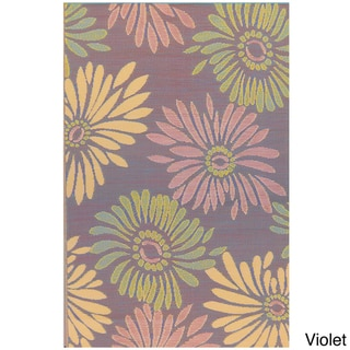 Thai Indoor/Outdoor Daisy Floor Mat (4' x 6')