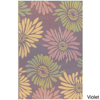 Thai Indoor/Outdoor Daisy Floor Mat (4' x 6')