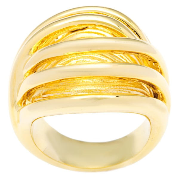 Kate Bissett 14k Yellow Gold Overlay Illusion Fashion Ring