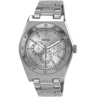 Breda Men's 'Logan' Steel Square Bezel Watch