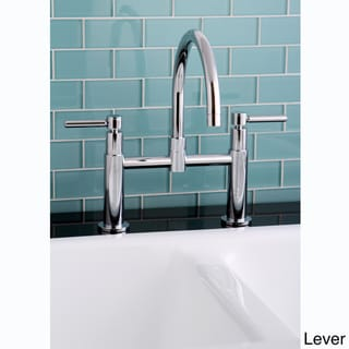 Modern Chrome Bridge Kitchen Faucet