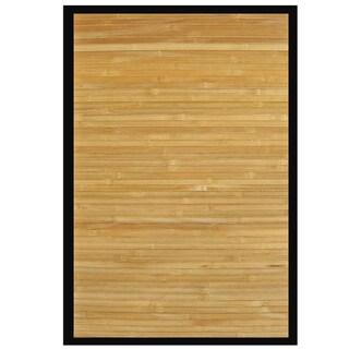 Namaste Bamboo Rug with Black Border (6' x 9')