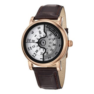 Stuhrling Original Men's Eclipse X Automatic Leather Strap Watch