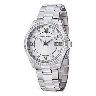 Stuhrling Original Men's Nautic Quartz Stainless Steel Bracelet Watch