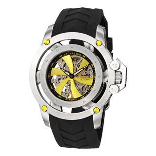 Stuhrling Xtreme Men's Impulse Automatic Skeleton Rubber Strap Watch