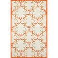 Hand-tufted Ivory Fancy Rug (3'6 x 5'6)