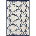 "Hand-Tufted Ivory Fancy Transitional Rug (7'6"" x 9'6"")"