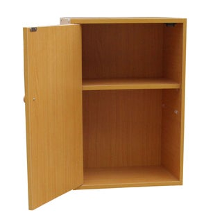 Two-Tier Adjustable Book Shelf with Door
