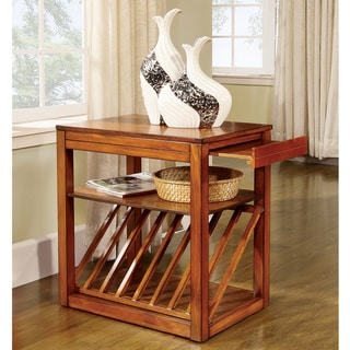 Furniture of America Avantgarde End table-Night Stand with Magazine Rack