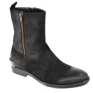 Galliano Men's Suede Black Boots