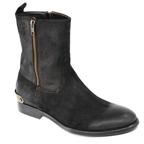Galliano Men's Suede Black Boots