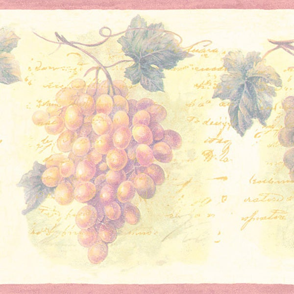 Violet Grapes Border Wallpaper