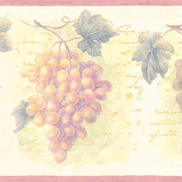 Violet Grapes Border Wallpaper