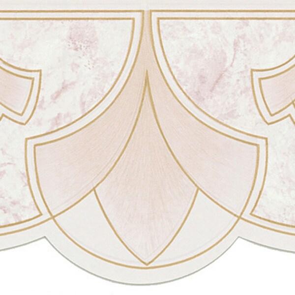 Peach Art Nouveau Border Wallpaper