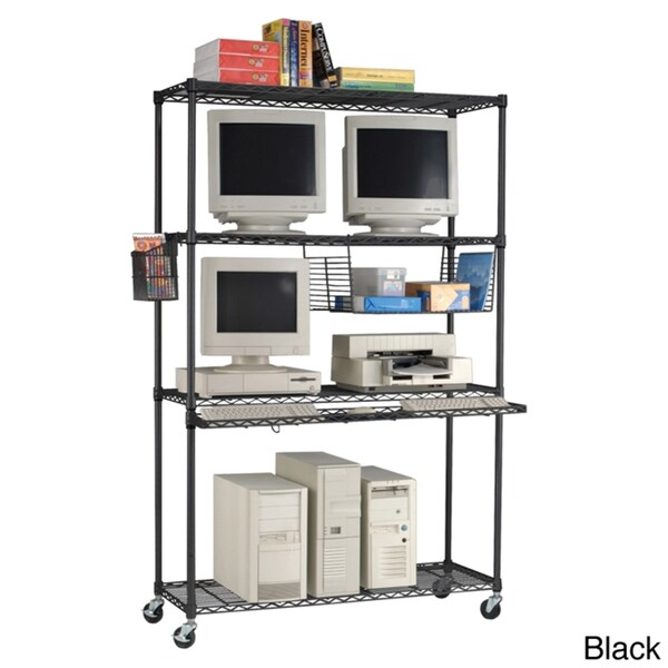 OFM 4818 LAN Station and Mobile Shelf