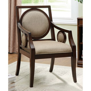 Furniture of America Julia Martini Modern Solid Wood Accent Arm Chair
