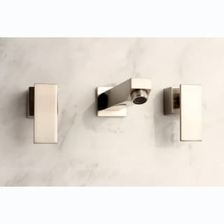 Wall-Mount Satin Nickel Bathroom Vessel Faucet