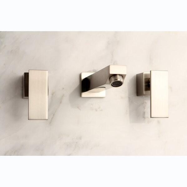 Wall-Mount Satin Nickel Bathroom Vessel Faucet