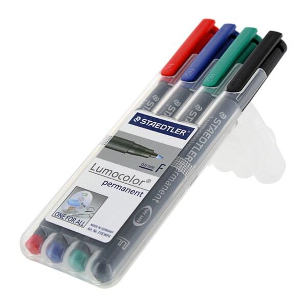 Staedtler Lumocolor Fine 0.6mm Permanent Markers (Pack of 4)