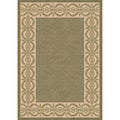 Indoor/ Outoor Rug Barrymore Green and Beige Area Rug (2'7 x 5'11)