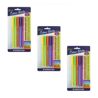 Staedtler Color Sticks Medium Point Ballpoint Pens (Pack of 15)