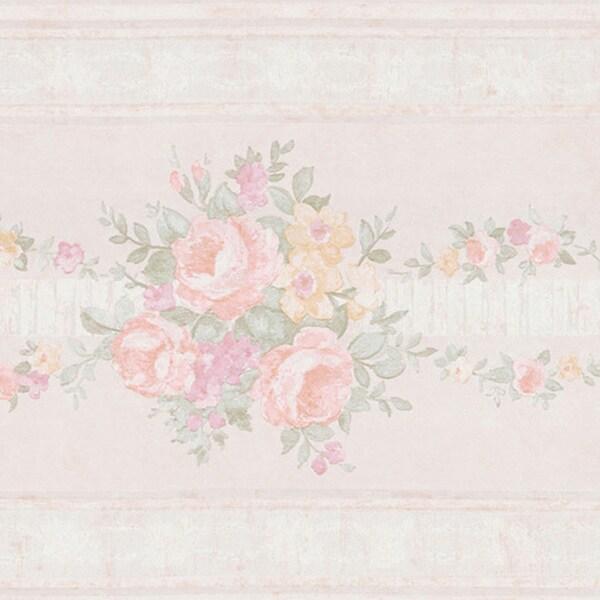 Pastel Victorian Border Wallpaper