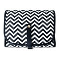 Chevron Hanging Cosmetic Bag with Grooming Kit