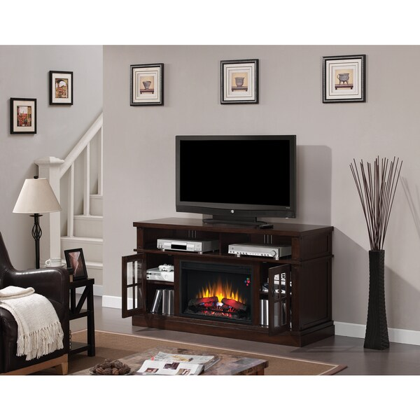 Dakota 26-inch Classic Flame Indoor Electric Fireplace Media Mantel