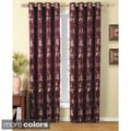 Claret Leaf and Vines Grommet 84-inch Curtain Panel