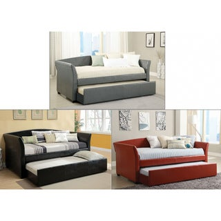 Furniture of America Buckies Contemporary Leatherette Day Bed with ...
