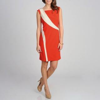 Sharagano Women's Starburst Colorblocked Dress