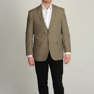 Adolfo Men&#39;s Tan Mini Houndstooth Sport Coat