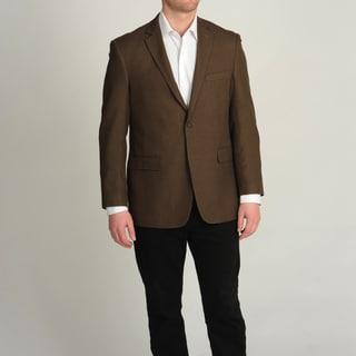 Adolfo Men's Brown Mini Houndstooth Sport Coat