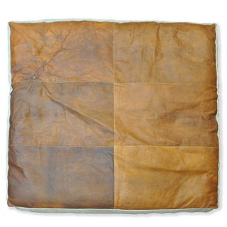 Cottage Home Cooper Leather Floor Cushion (35x35)