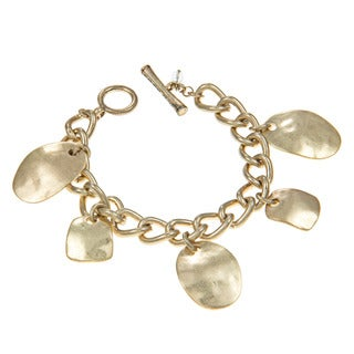 Kenneth Cole Goldtone Sculpture Charm Toggle Bracelet