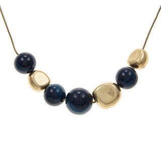 Kenneth Cole Goldtone Blue Necklace