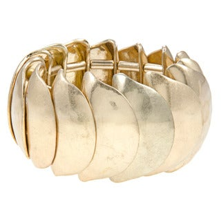 Kenneth Cole Goldtone Sculpture Stretch Bracelet