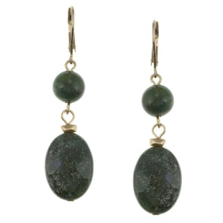 Kenneth Cole Emerald Green 2-stone Drop Fashion Earrings