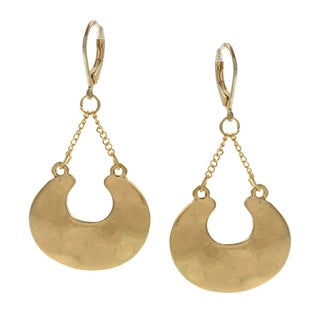 Kenneth Cole Goldtone Crescent Dangle Earrings