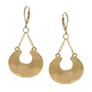 Kenneth Cole Goldtone Crescent Dangle Earrings