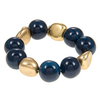 Kenneth Cole Goldtone Blue Stretch Bracelet