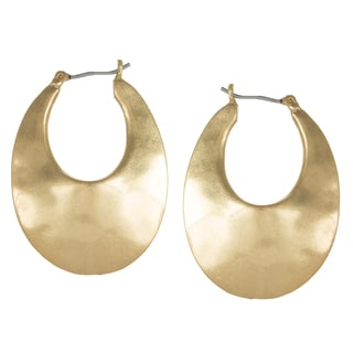 Kenneth Cole Goldtone Sculpture Hoop Earrings