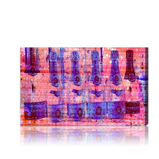 'Cristal on Crystal ROSE' Canvas Art