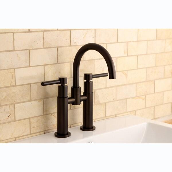 Bridge Oil Rubbed Bronze Bathroom Faucet