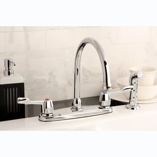 Chrome Kitchen Faucet with Side Sprayer