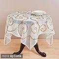 Saro Hand-beaded Table Runner, Topper, or Tablecloth